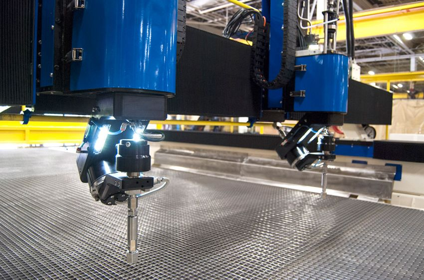 L-3025 High Speed Water-Only Waterjet with Dual 5-Axis Cutting Heads